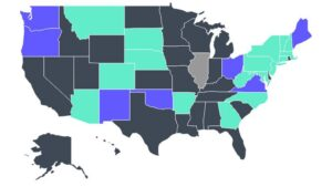 Map shows typical APR in each state